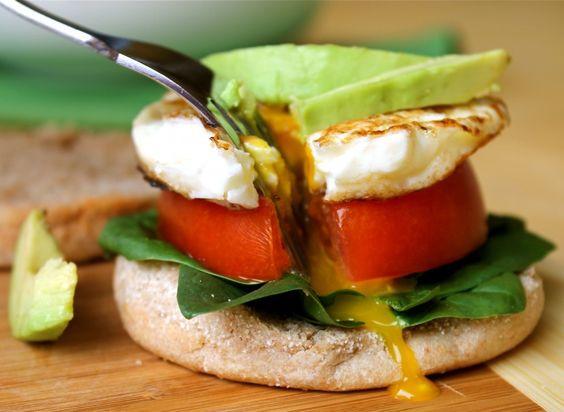 Healthy English Muffin Breakfast Sandwich  Pinterest • The world's catalog of ideas