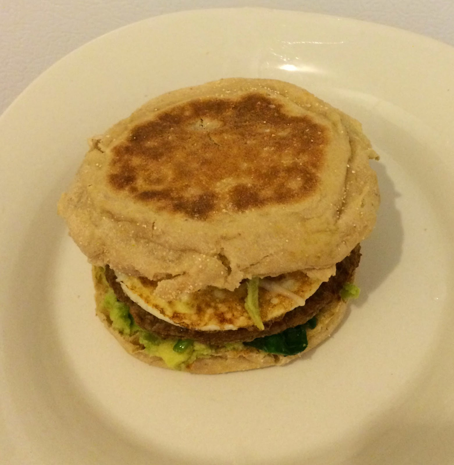 Healthy English Muffin Breakfast Sandwich  Super Green Super Healthy Breakfast Sandwich First Time