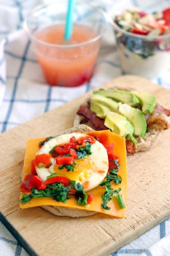 Healthy English Muffin Breakfast Sandwich  Muffin Pan Breakfast Sandwiches