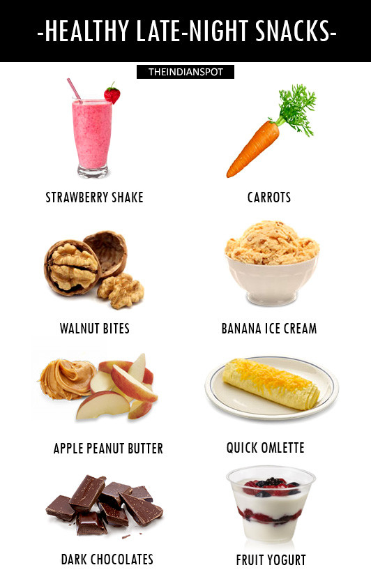 Healthy Evening Snacks For Weight Loss  HEALTHY LATE NIGHT SNACKS THEINDIANSPOT