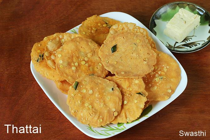 Healthy Evening Snacks Indian  Thattai recipe video Thattai murukku