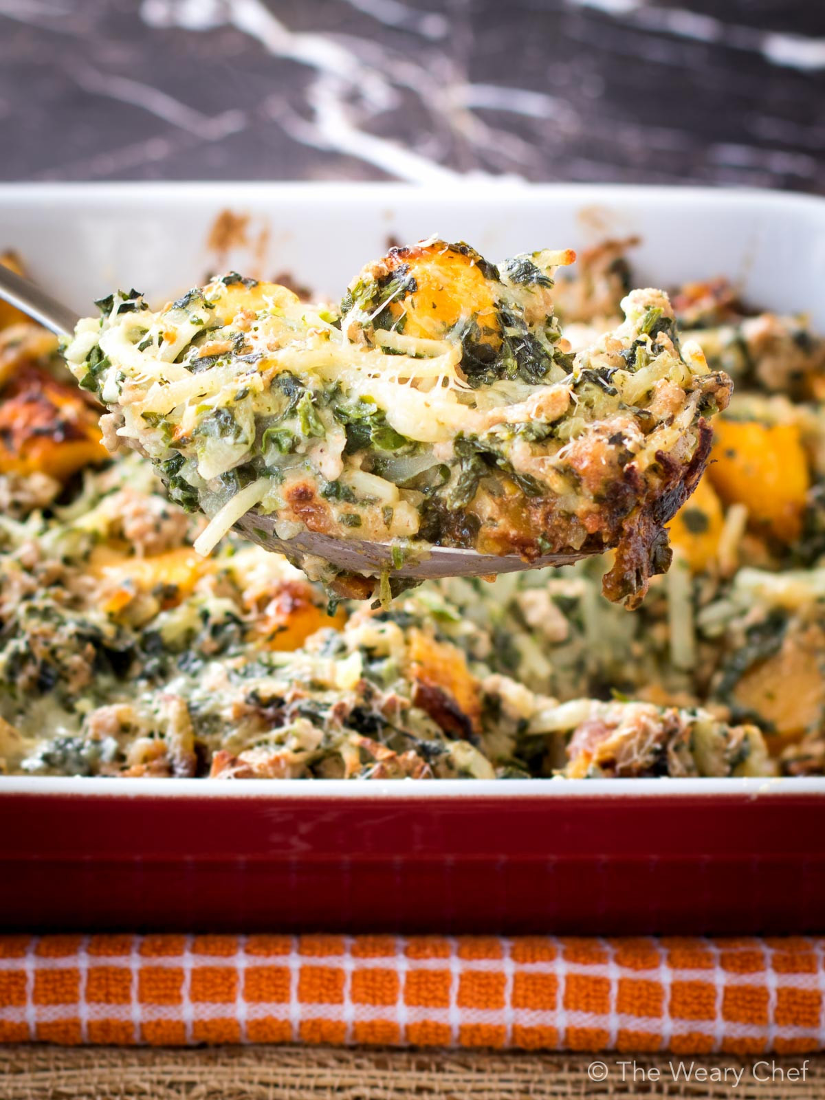 Healthy Fall Casseroles  Fall Potluck Casserole with Turkey and Squash The Weary Chef
