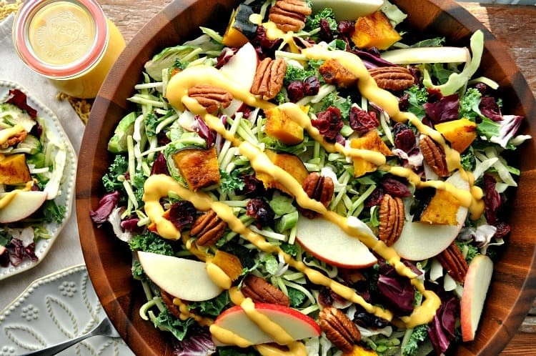 Healthy Fall Salads  Healthy Thanksgiving Side Dish Fall Harvest Salad with