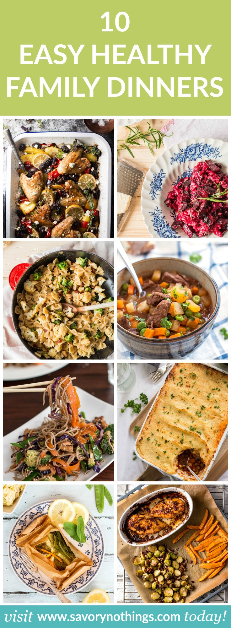 Healthy Family Dinners  10 Healthy Family Dinners Easy Recipes for Busy Weeknights