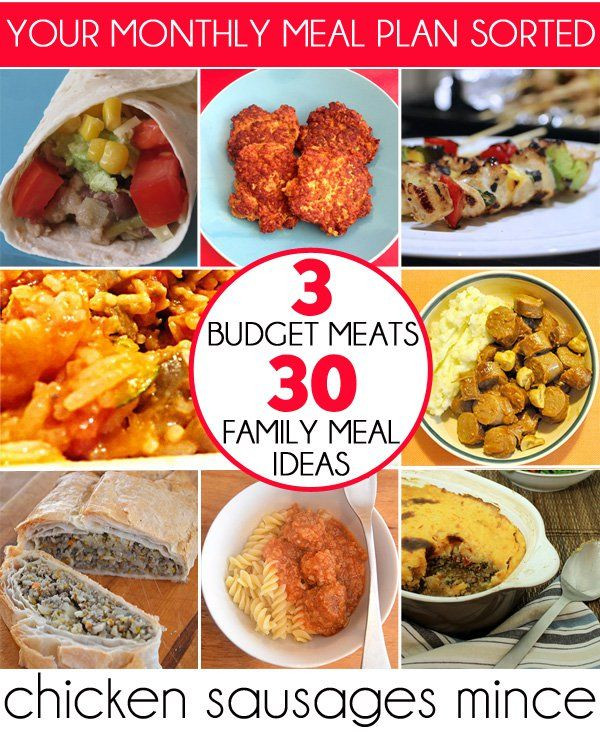 Healthy Family Dinners On A Budget  3 Bud Meats 30 Family Meal Ideas