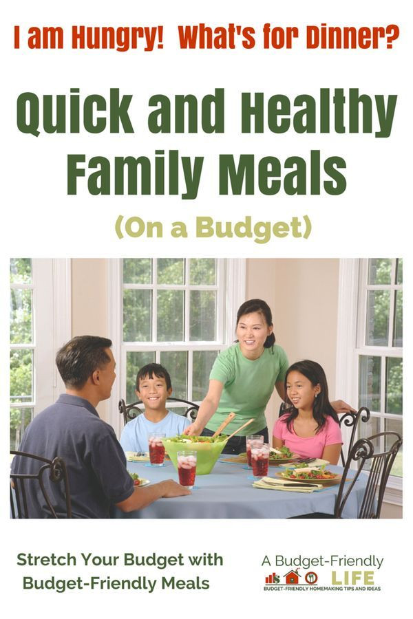 Healthy Family Dinners On A Budget  Quick Healthy Family Meals on a Bud