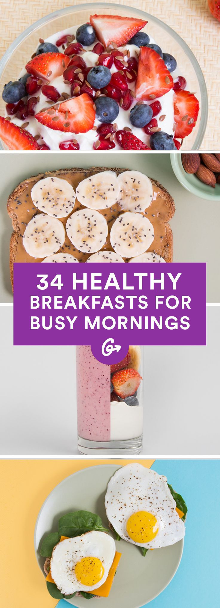 Healthy Fast Breakfast Recipes  25 best ideas about Healthy breakfasts on Pinterest