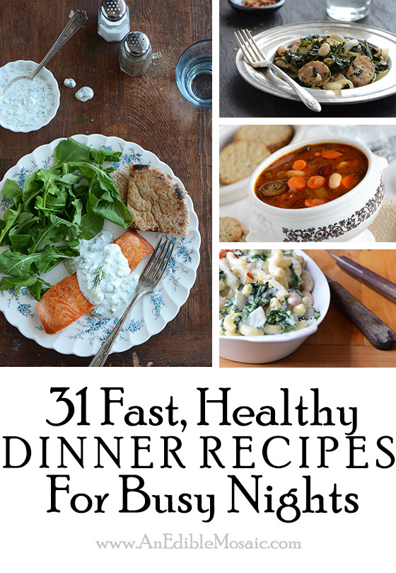 Healthy Fast Dinners  31 Fast Healthy Dinner Recipes for Busy Nights And Food