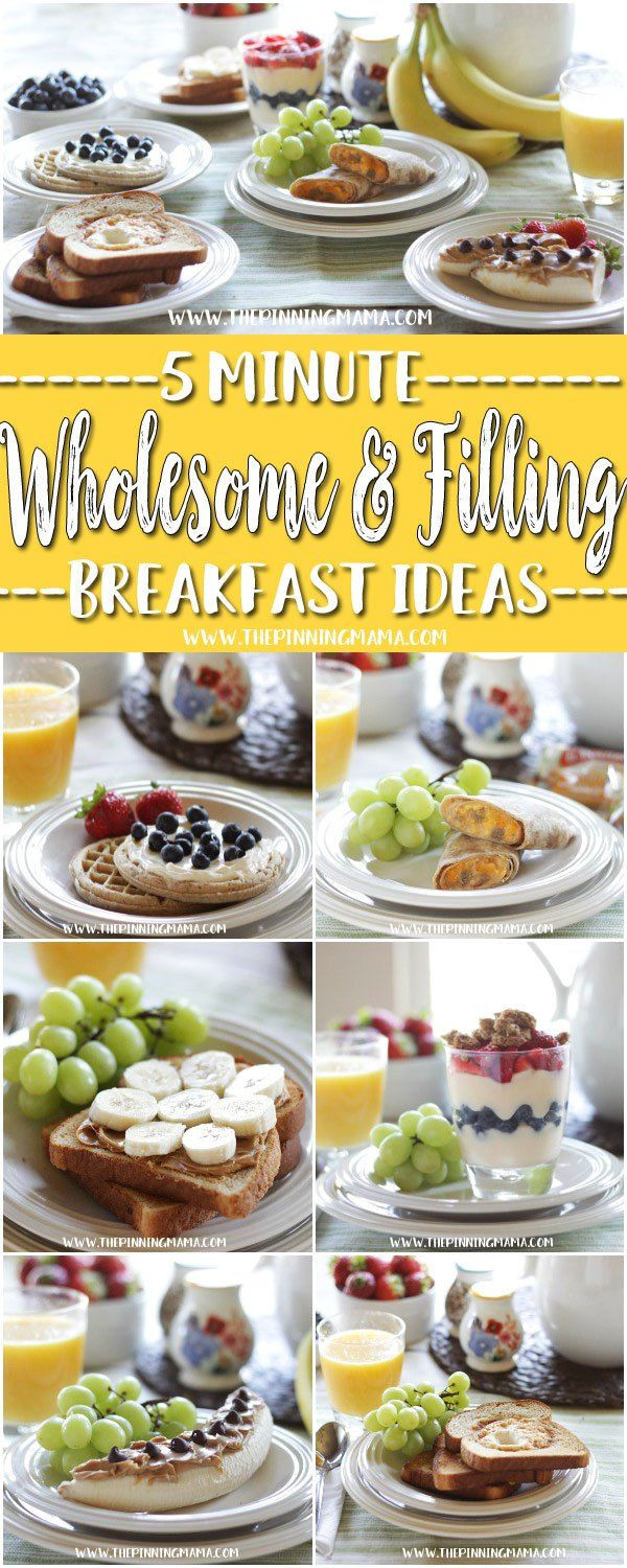 Healthy Fast Food Breakfast  17 Best ideas about Healthy Breakfasts on Pinterest