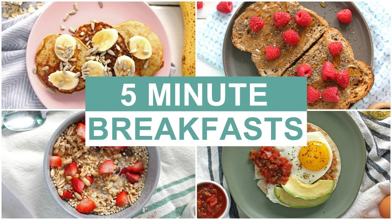 Healthy Fast Food Breakfast  EASY 5 Minute Breakfast Recipes