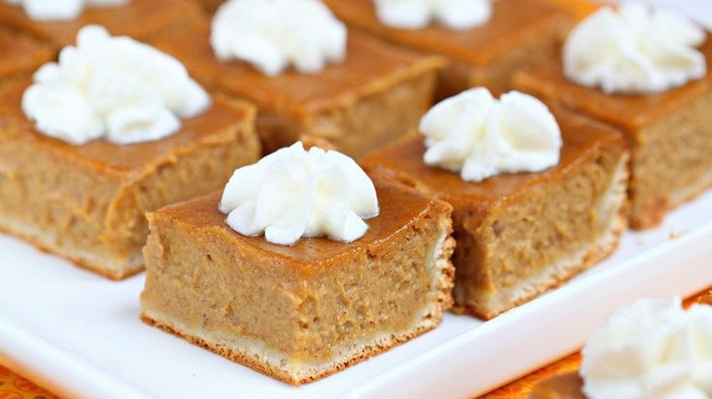 Healthy Fast Food Desserts  Pumpkin Pie Bar – Best Fast Healthy & Cheap Thanksgiving