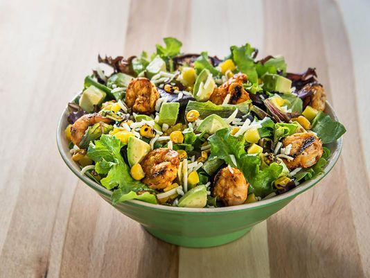 Healthy Fast Food Salads  Build your own salads replacing popular burrito bars