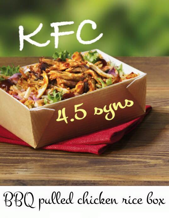 Healthy Fast Food Snacks  KFC Rice Box Healthy Fast Food Lunches Slimming World Syns