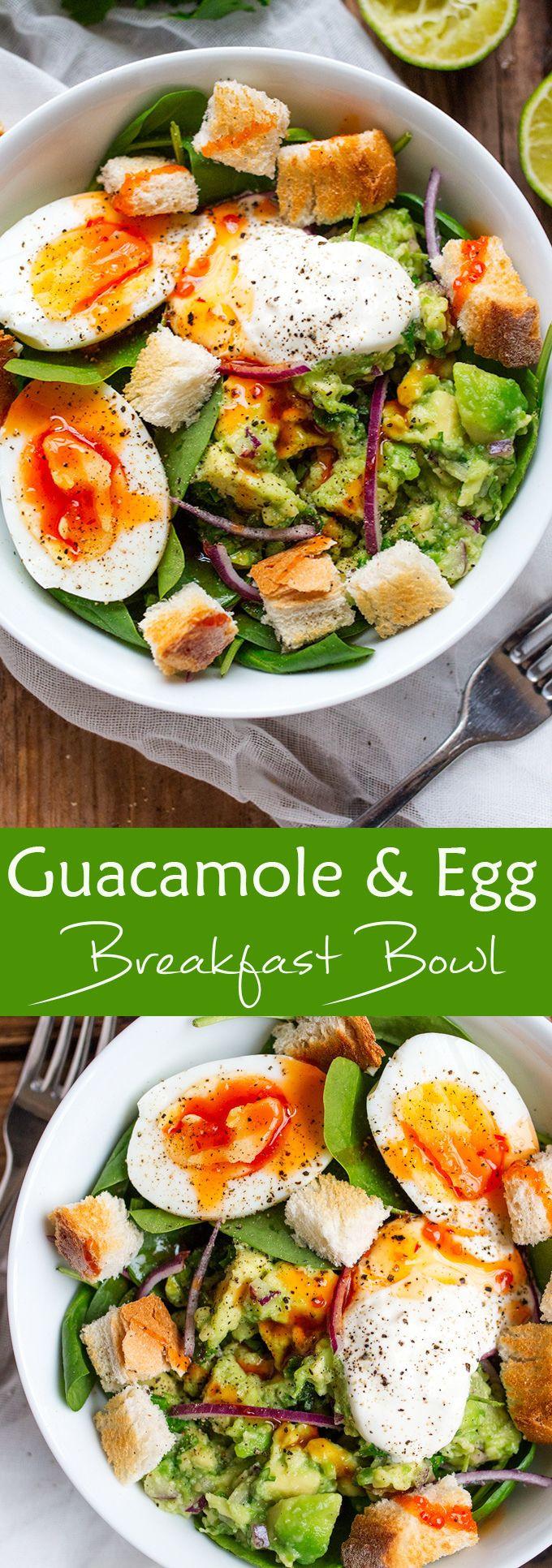 Healthy Filling Breakfast  Ta en titt på Guacamole & Egg Breakfast Bowl Det är så