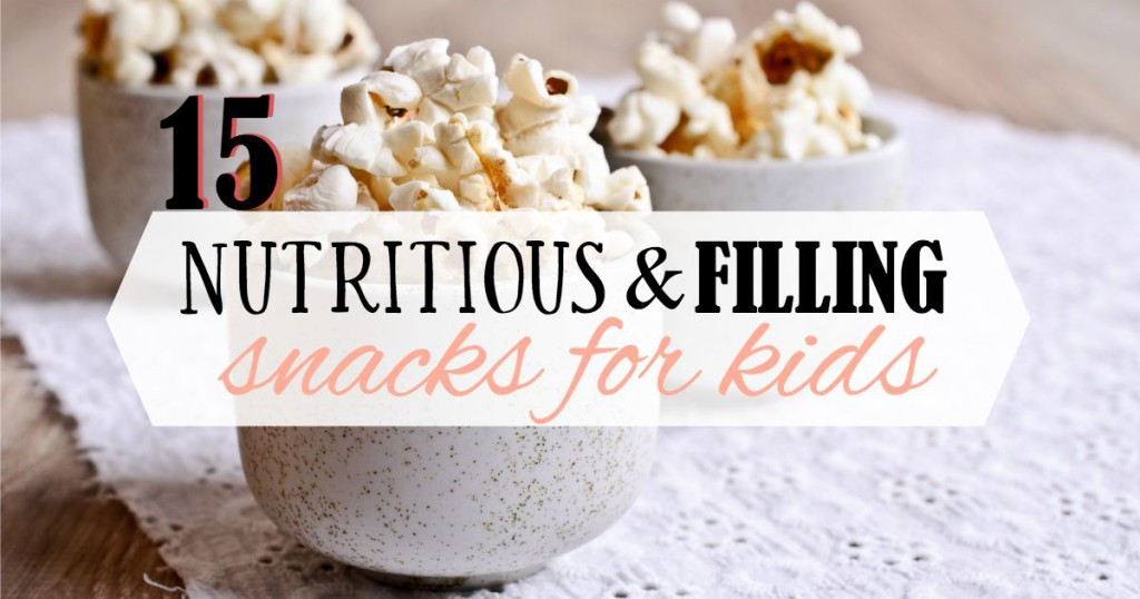 Healthy Filling Snacks For Work  15 Nutritious and Filling Snacks for Kids