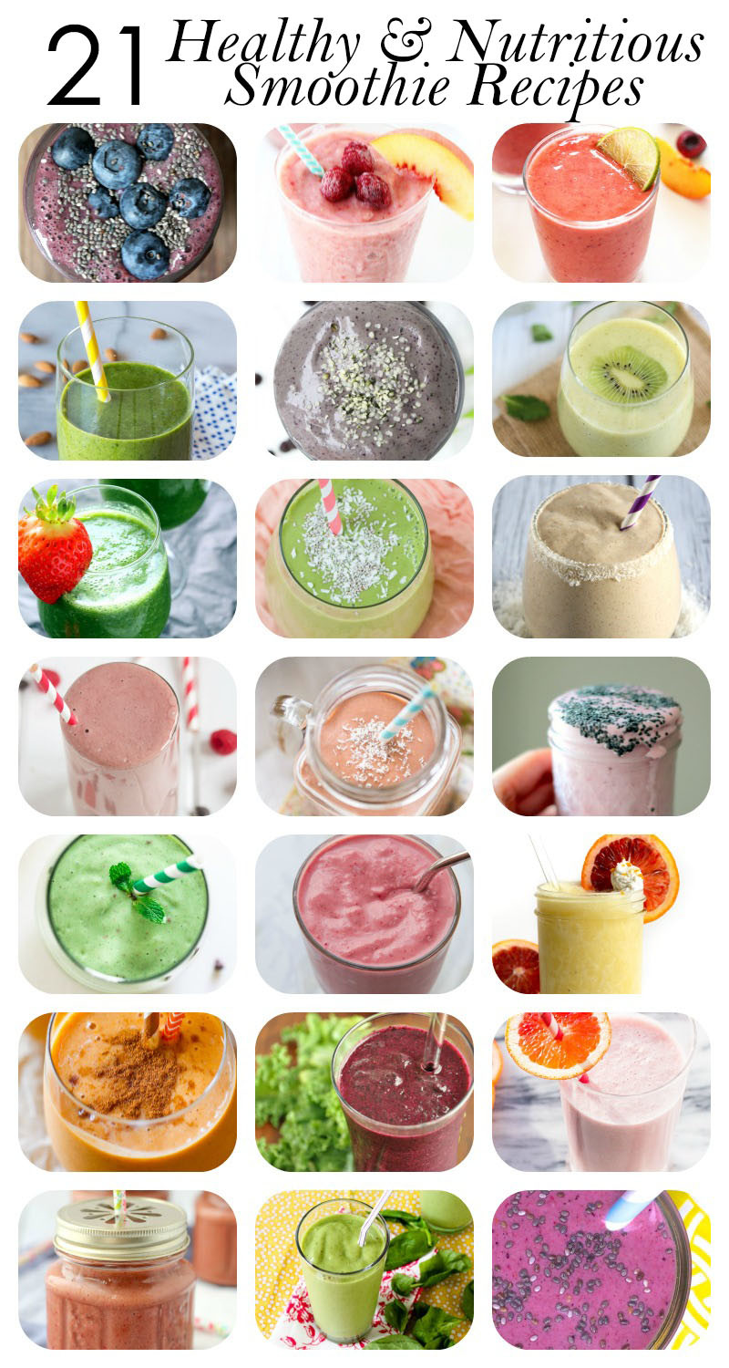 Healthy Food Smoothies  21 Healthy Smoothie Recipes for breakfast energy and