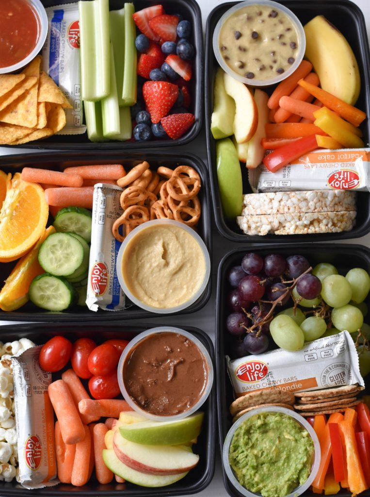 Healthy Food Snacks  Kids Snack Bento Boxes Fork and Beans
