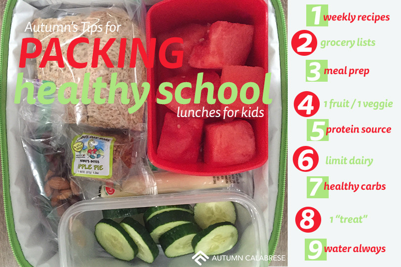 Healthy Foods For Kids' School Lunches  Tips for Packing Healthy School Lunches Your Kids Will