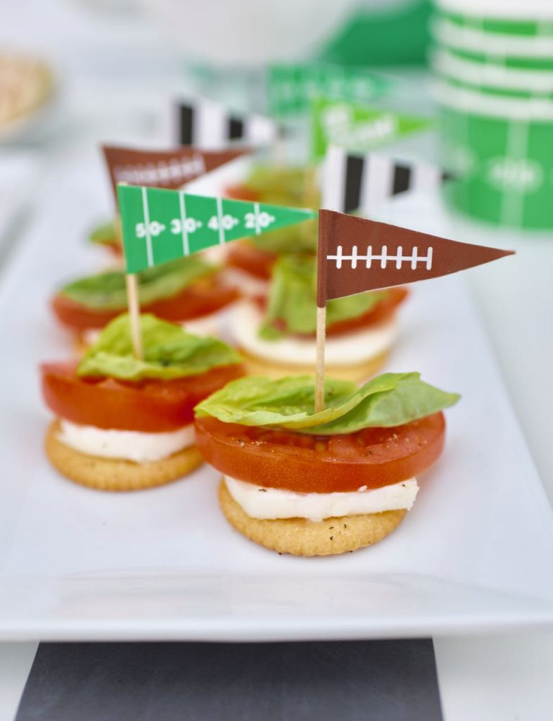 Healthy Football Game Appetizers  Healthy Football Party Caprese Appetizer Recipe Make