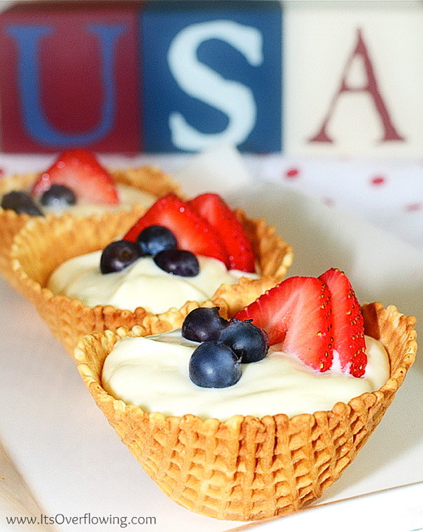 Healthy Fourth Of July Desserts  Patriotic Cheesecake In Waffle Bowl – Best Fast Healthy