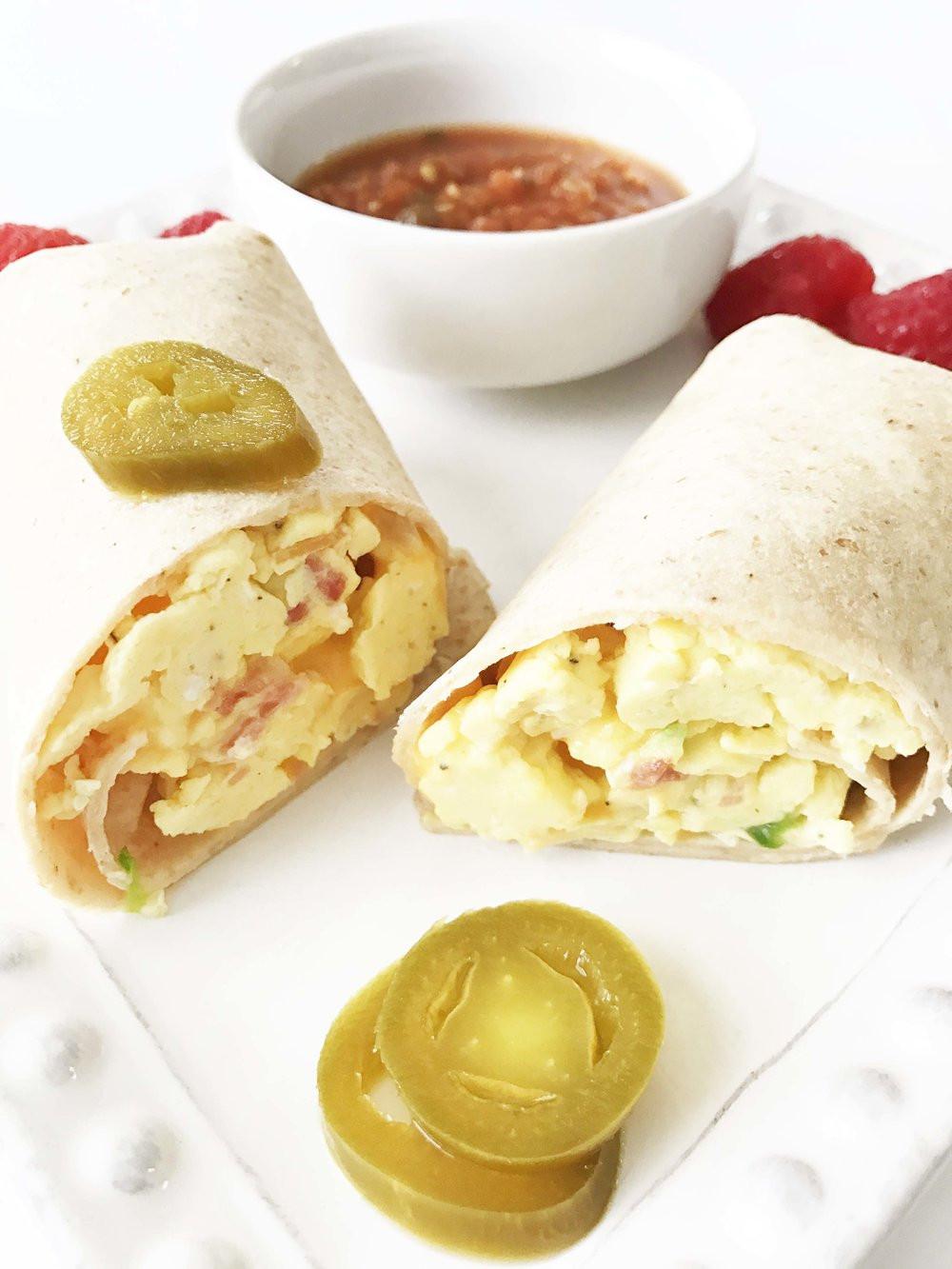 Healthy Freezer Breakfast Burritos  Healthy Freezer Friendly Breakfast Burritos — The Skinny Fork