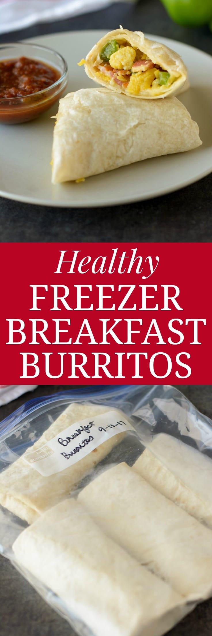 Healthy Freezer Breakfast Burritos  Healthy Freezer Breakfast Burritos Healthier Dishes