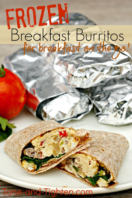 Healthy Freezer Breakfast Burritos  How to Eat Healthy on a Bud plus 25 inexpensive
