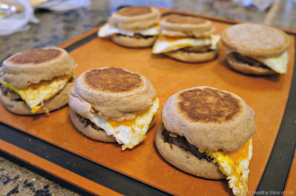 Healthy Freezer Breakfast Sandwiches  Healthy Freezer Breakfast Sandwiches
