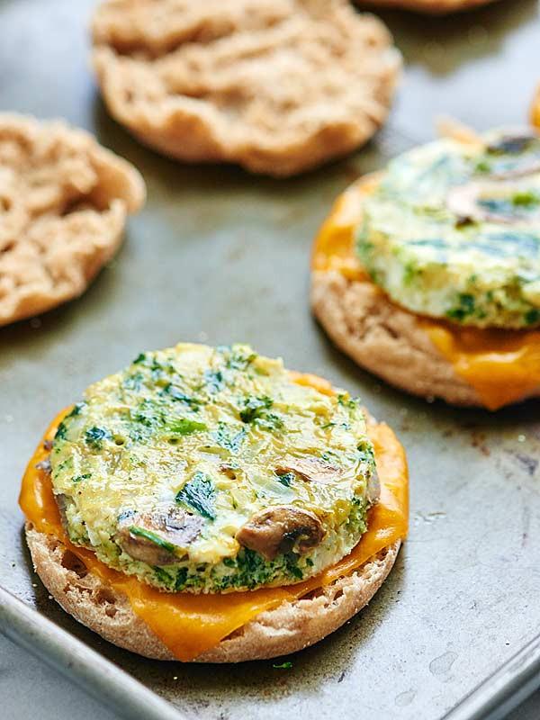 Healthy Freezer Breakfast Sandwiches  Healthy Breakfast Sandwich Make Ahead Option