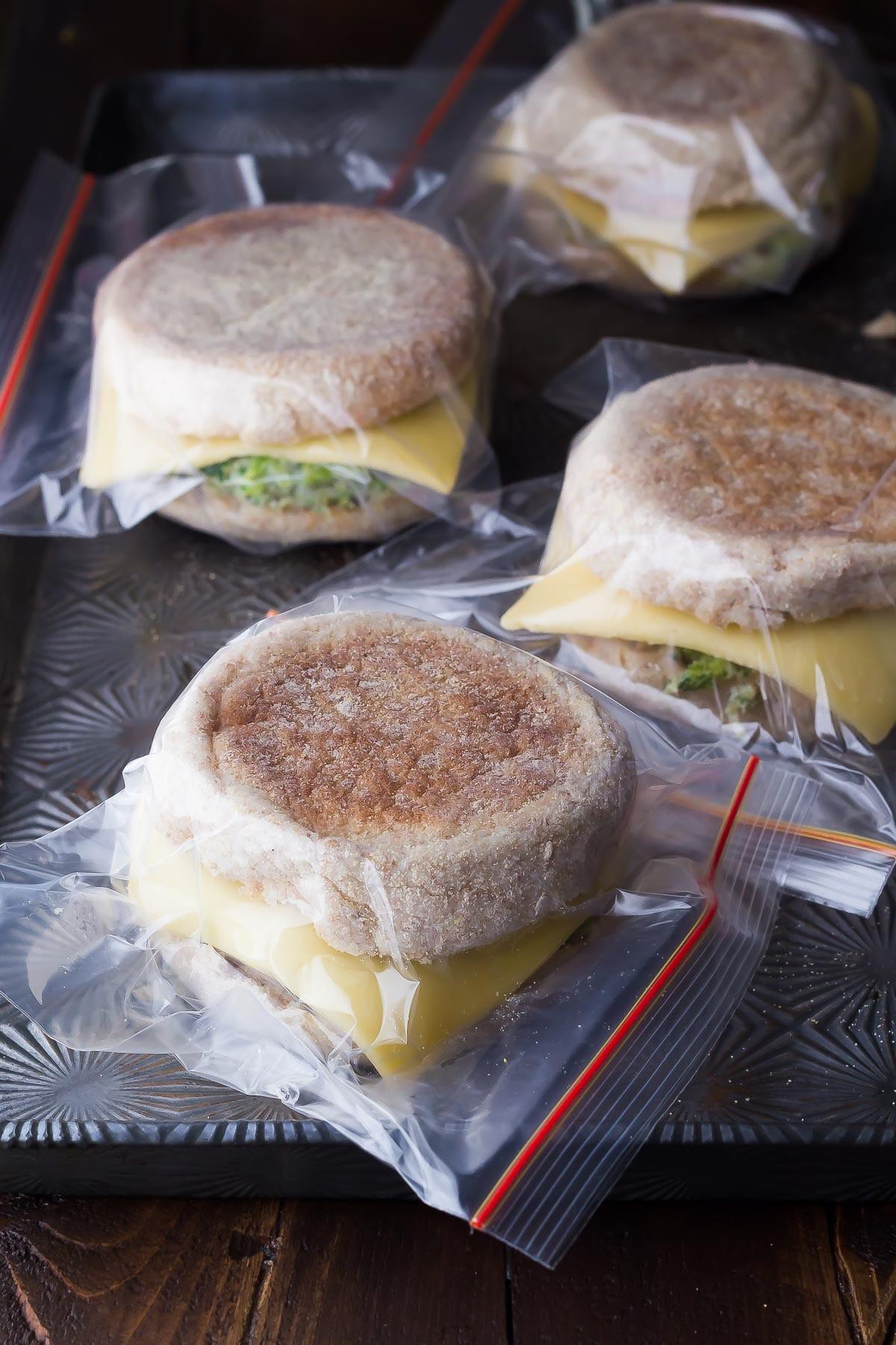 Healthy Freezer Breakfast  Healthy Freezer Breakfast Sandwiches