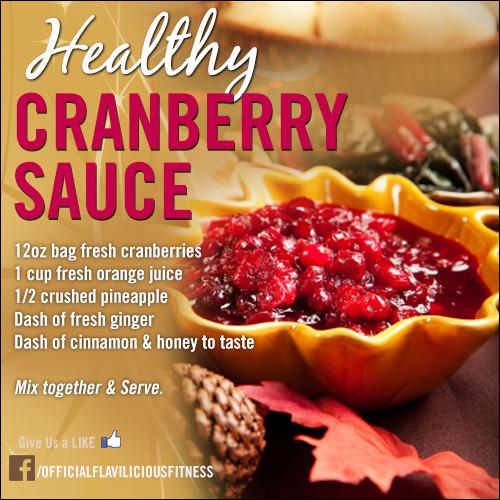 Healthy Fresh Cranberry Recipes  Tasty Thursday Fresh & Healthy Holiday Cranberry Sauce