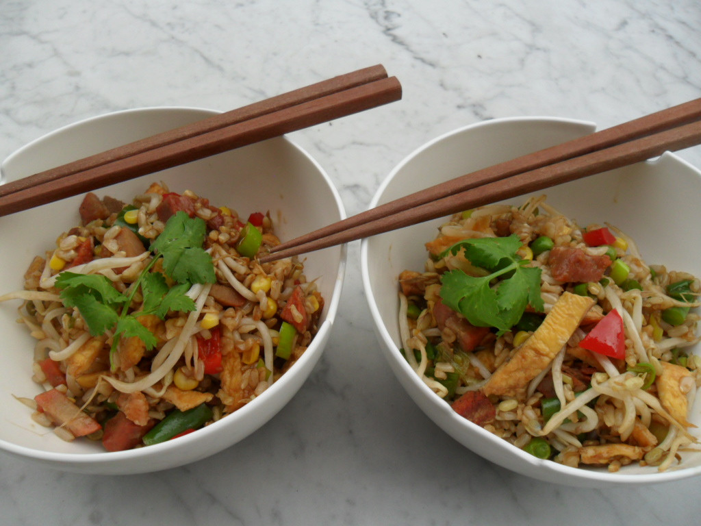 Healthy Fried Brown Rice  Healthy brown fried rice Cookwise