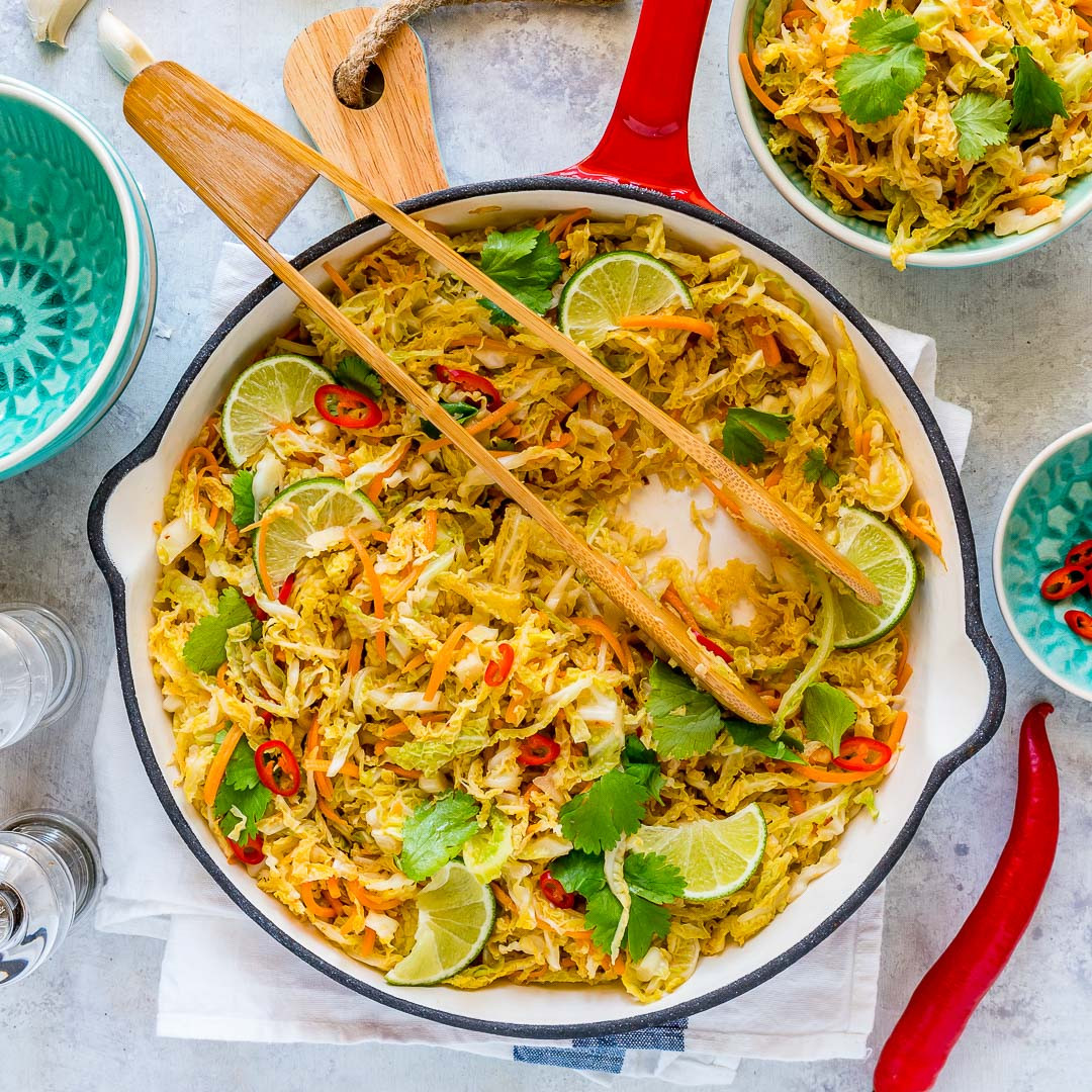 Healthy Fried Cabbage  Eat Clean with this Spicy Stir Fried Cabbage Side Dish