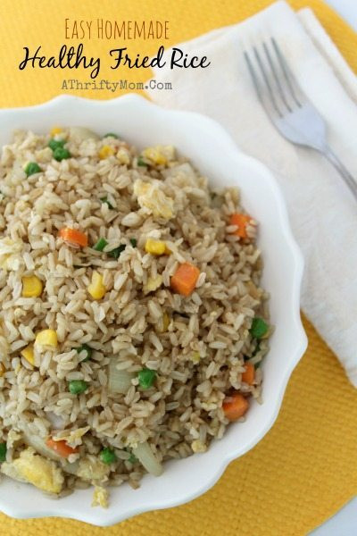 Healthy Fried Rice Recipe  Easy Homemade Healthy Fried Rice Recipe SideDish