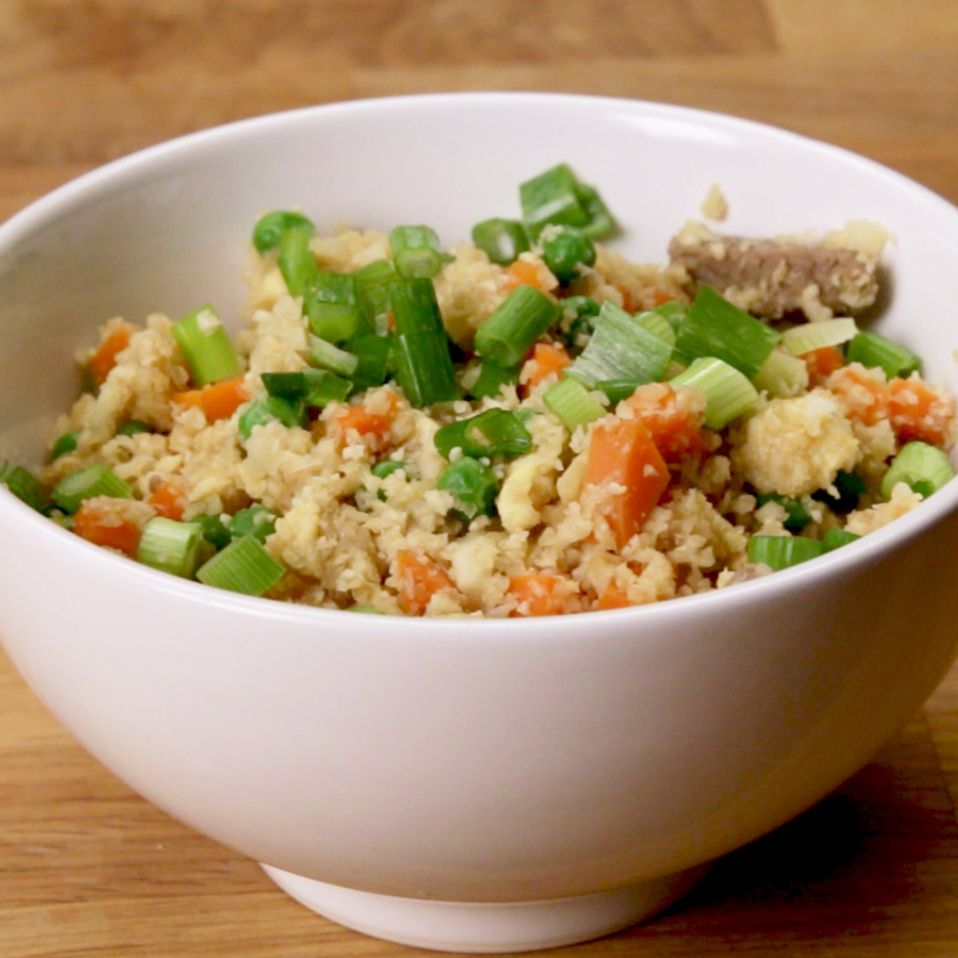 "Healthy Fried Rice Recipe  Healthy Cauliflower Fried ""Rice"" Recipe by Tasty"