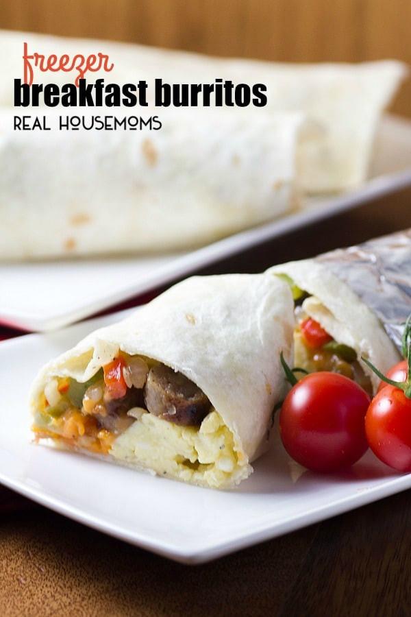 Healthy Frozen Breakfast Burritos  Freezer Breakfast Burritos ⋆ Real Housemoms