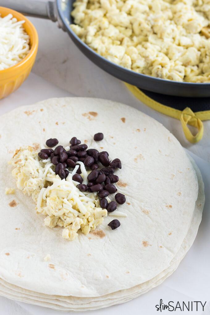 Healthy Frozen Breakfast Burritos  Homemade Frozen Breakfast Burritos Slim Sanity