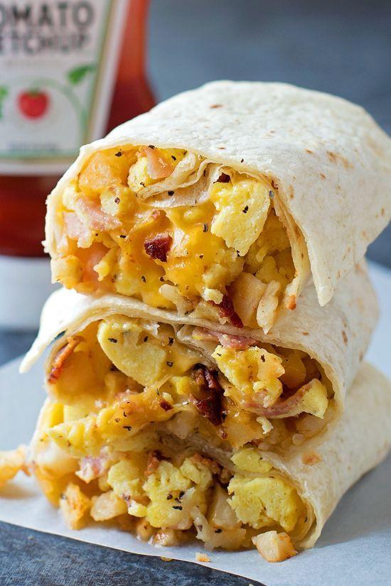 Healthy Frozen Breakfast Burritos  Best 25 Breakfast burritos ideas on Pinterest