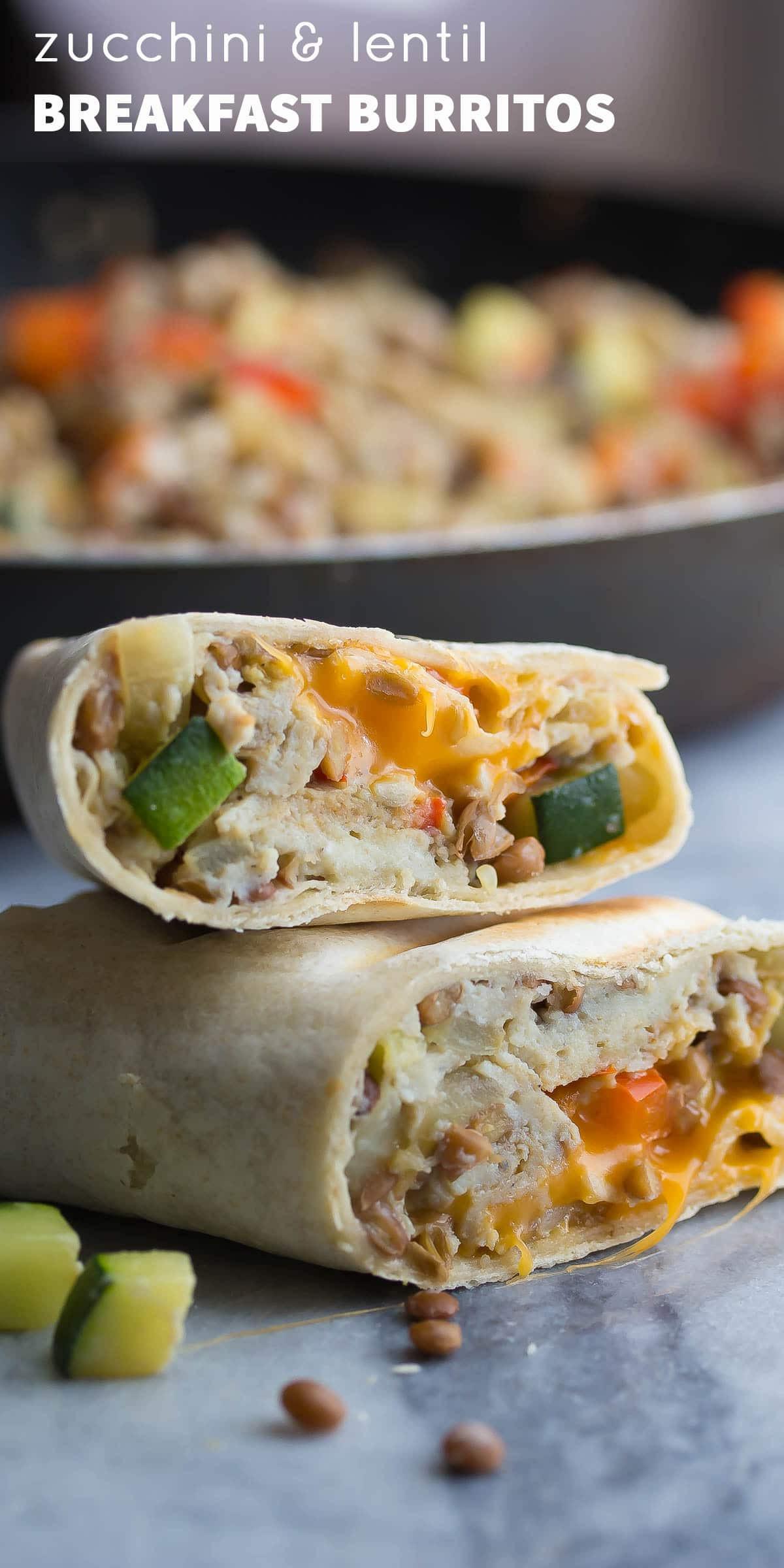 Healthy Frozen Breakfast Burritos  Healthy Breakfast Burritos with Zucchini and Lentils