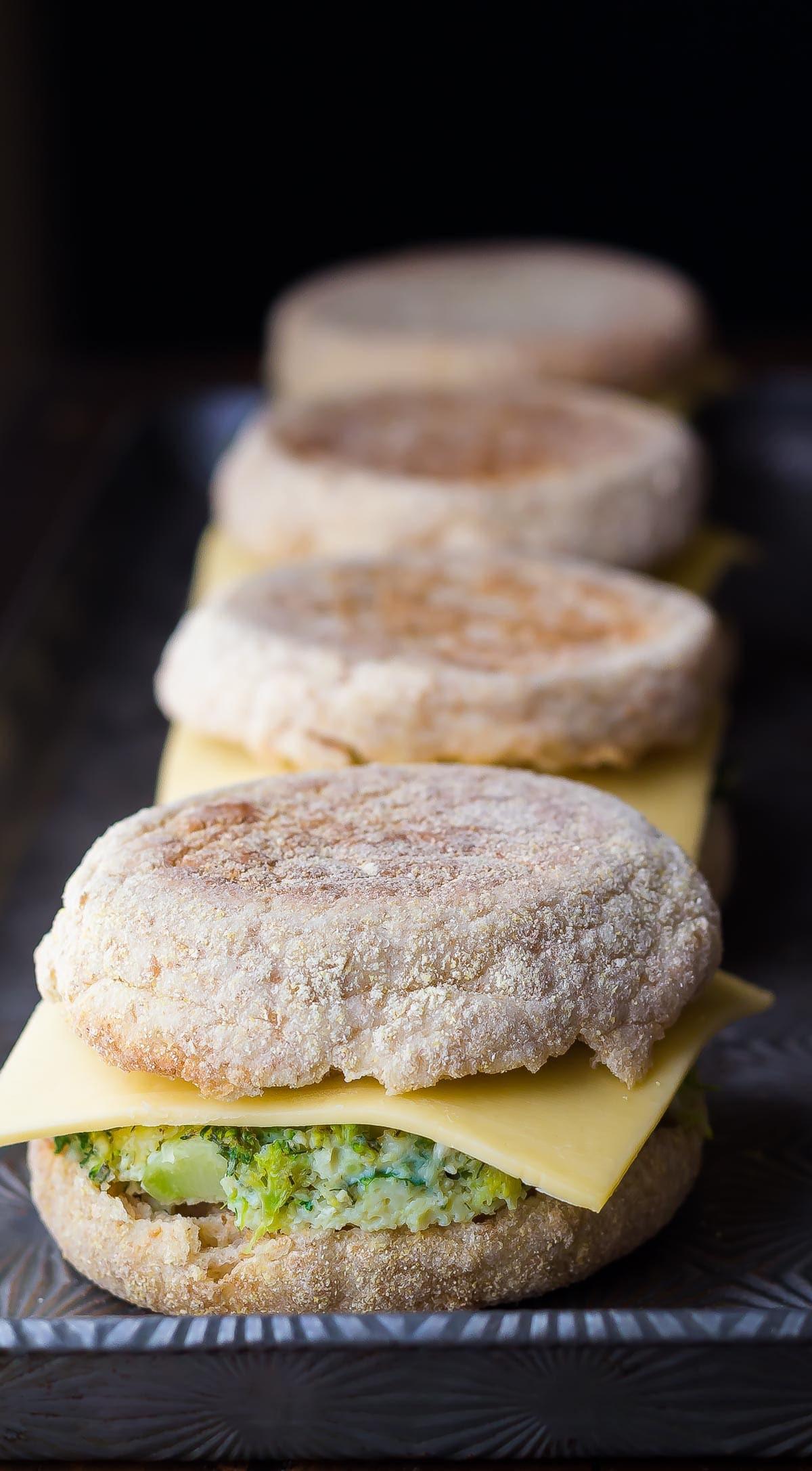 Healthy Frozen Breakfast  Healthy Freezer Breakfast Sandwiches