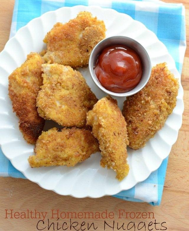 Healthy Frozen Chicken Tenders  Healthy Homemade Frozen Chicken Nug s from America s