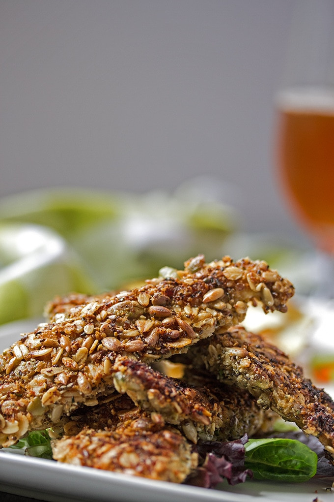 Healthy Frozen Chicken Tenders  Oven Baked Chicken Tenders with a Healthy Seed Crust