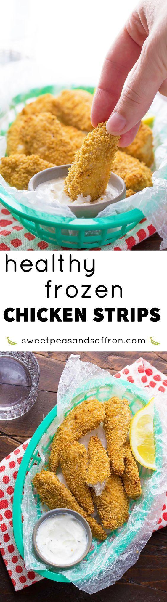 Healthy Frozen Chicken Tenders  Healthy Homemade Frozen Chicken Strips Recipe