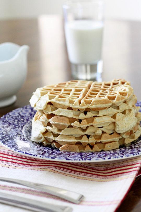 Healthy Frozen Waffles  Healthy applesauce waffles to freeze