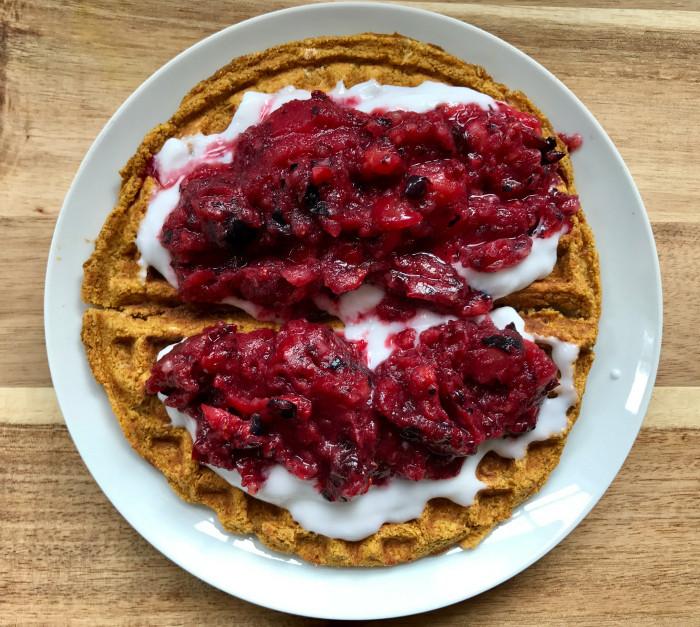 Healthy Frozen Waffles  Healthy Whole Grain Vegan Waffles Gluten Free No Added