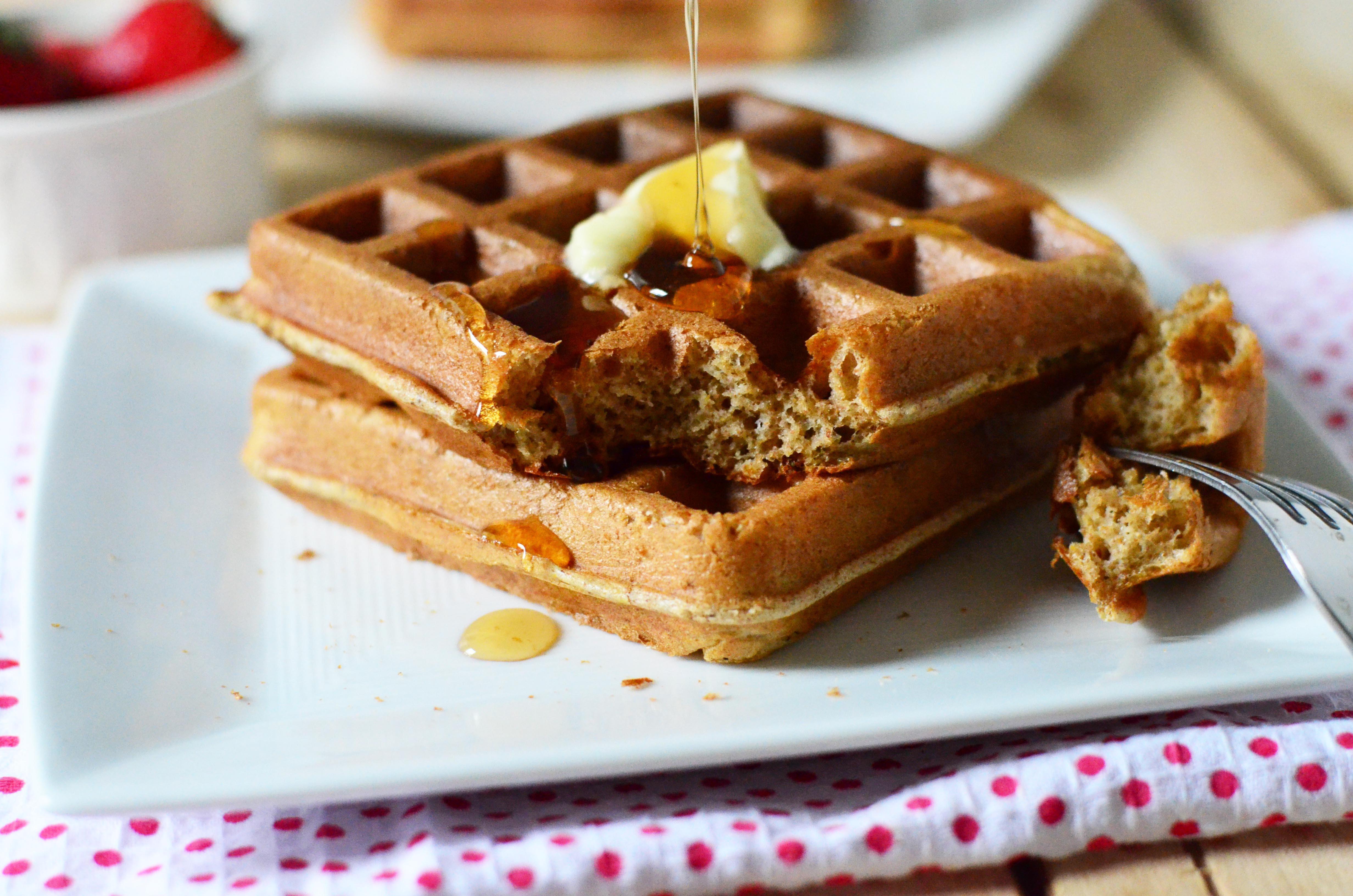 Healthy Frozen Waffles  Overnight Blender Waffles