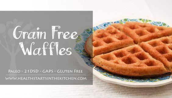 Healthy Frozen Waffles  Crispy Grain Free Waffles Recipe