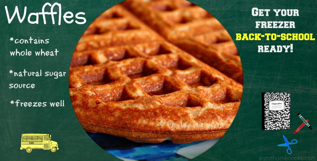 Healthy Frozen Waffles  Healthy Whole Grain Waffles Freezer Friendly Eat at Home