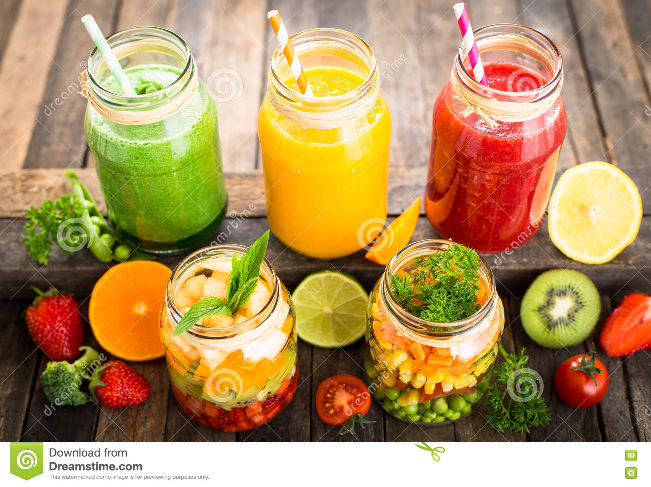 Healthy Fruit And Vegetable Smoothie Recipes  Healthy Fruit And Ve able Smoothies Royalty Free Stock