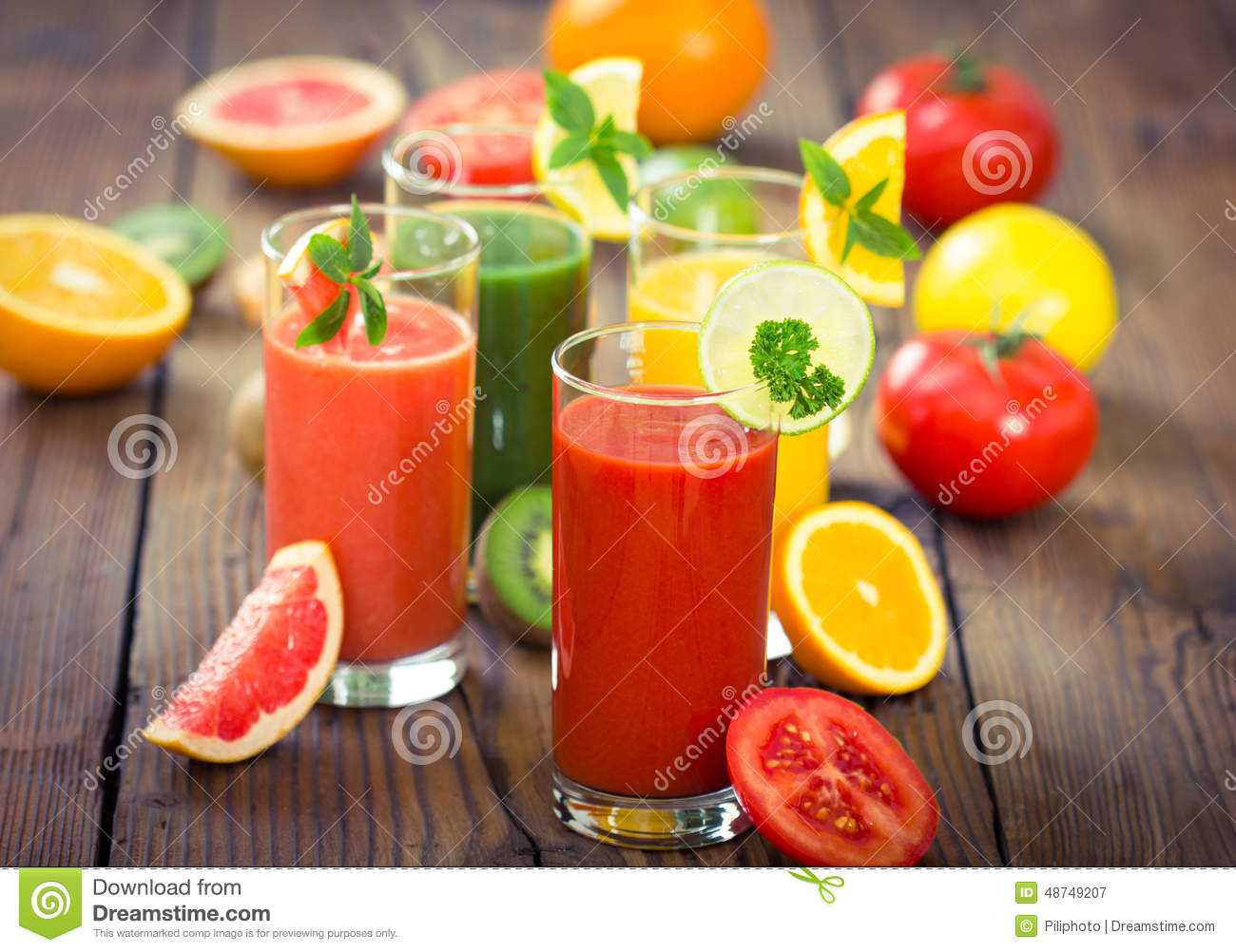 Healthy Fruit And Vegetable Smoothies  Healthy Fruits And Ve ables Smoothies Stock Image